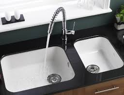 Single Bowl Kitchen Sink Undermount Kitchen White Kitchen Cabinet Black Countertop Ceramic