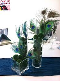peacock centerpieces charming image of various peacock centerpiece ideas for your