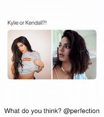 Perfection Girl Meme - kylie or kendall what do you think girl meme on me me