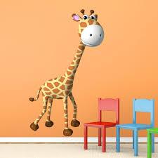 stickers girafe chambre bébé stickers muraux d animaux pour la chambre d enfants