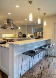 kitchen peninsula with seating ideas for small kitchens counter kitchen kitchen peninsula with seating bar stool walnut and brown disc pendant copper