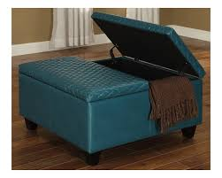 Square Ottomans Large Square Storage Ottoman Square Storage Ottoman Blue Faux
