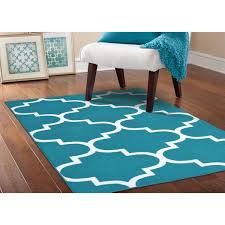 Quatrefoil Area Rug Somette Geometric Teal White Area Rug 5 X 7 5 Ft X 7 Ft