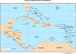 carribbean map maps of the americas