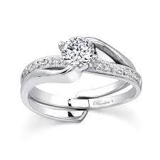interlocking engagement ring wedding band barkev s white gold diamond engagement ring set 7345s barkev s