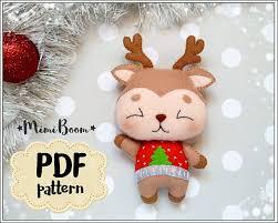 pattern felt rudolph ornament felt pattern reindeer