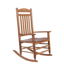 Outdoor Wooden Rocking Chairs For Sale Natural Wood Rocking Chair It 130828n The Home Depot