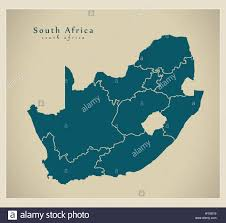 Pretoria South Africa Map by Modern Map South Africa With Provinces Za Stock Vector Art