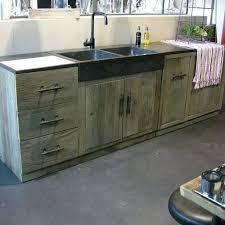 meuble cuisine bois recyclé cuisine bois recycle meuble caisson massif style pin meubles de en