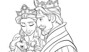 king queen tangled coloring pages kids gekimoe u2022 77226