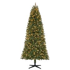 general foam 7 ft pre lit slender spruce artificial christmas