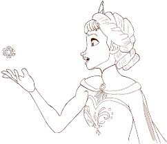 draw elsa frozen draw step step drawing