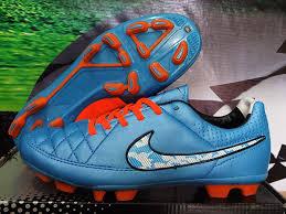 Sepatu Bola Grade Ori jual sepatu bola nike tiempo hypershield biru orange grade ori