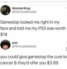 Cancer Face Meme - monsterking gamestop looked me right in my face and told me my ps3
