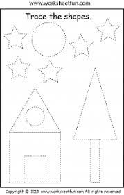 tracing u2013 shape tracing u2013 preschool free printable worksheets