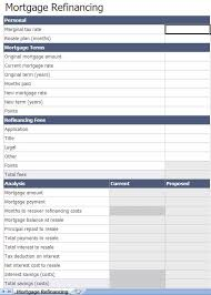 Mortgage Calculator In Excel Template Refinance Mortgage Calculator Excel Template