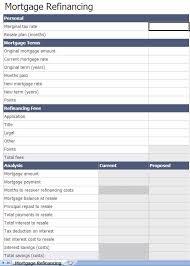Excel Mortgage Calculator Template Refinance Mortgage Calculator Excel Template
