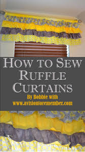 Yellow Ruffle Curtains by 25 Unique Sewing Ruffles Ideas On Pinterest Smocking Ruffle