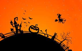 wallpaper scary house witch bats pumpkin 4k celebrations