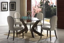 Coaster Dining Room Sets Sydney 5 Piece Dining Set In Medium Walnut Finish By Coaster 120361