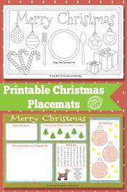 kids placemats printable christmas placemats free kids printable