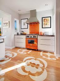 retro kitchen floor ideas with black tile floor on the kitchen