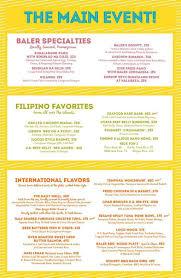 baler u0027s best restaurant the beach house and its menu