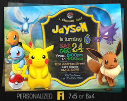 anniversaire theme pokemon aller de invitation pokemon evoli invitation fête
