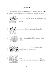 worksheet for grade 1 pang uri pang uri grade
