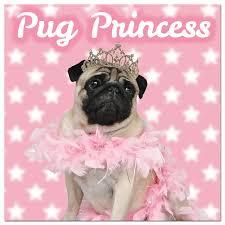 pugs pug princess card pugs