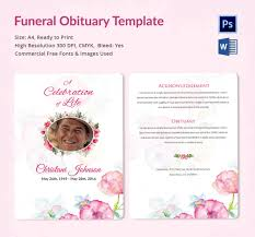 funeral obituary templates funeral obituary template 22 free word excel pdf psd format