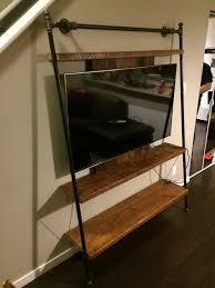 leaning ladder t v unit shelf
