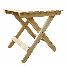 Square Table L Shop Shine Company 19 In W X 19 In L Square Cedar Folding End