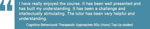 Counselling Studies And Skills Derby Cognitive Behavioural Therapeutic Approaches Cbt Bsc Top Up Degree