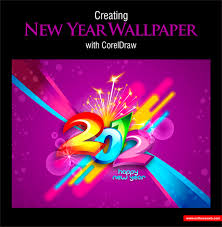 membuat poster dengan corel draw x7 new year wallpaper design with coreldraw corel pinterest