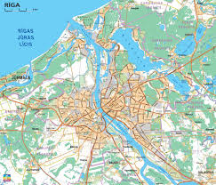 Road Map Of Canada by Detailed Road Map Of Riga Riga Detailed Road Map Vidiani Com