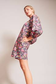 balloon dress no 6 no 6 3 4 balloon dress in large espresso london floral