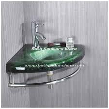 corner glass bathroom vanity corner glass basin with stainless