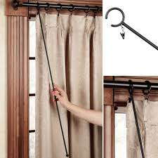 To Make End Decorative Traverse by Wrought Iron Curtain Rods