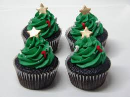 christmas tree cupcakes green kawaii blog food copcake christmas