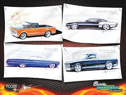 all makes all models parts p155 chip foose drawing collage