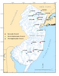 Map Of Middlesex County Nj Usgs New Jersey Summary Of April 15 18 2007 Flooding In New Jersey