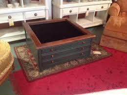 oak display case coffee table gun hpi thippo