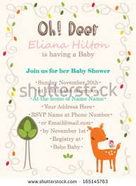 baby shower invitation template oh deer stock vector 165145763