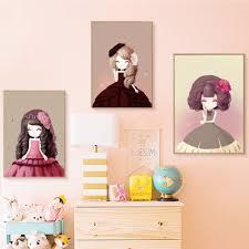 online buy wholesale kawaii girl picture from china kawaii girl princess cartoon canvas painting kawaii girl poster picture nursery kids bedroom decoration home decor china