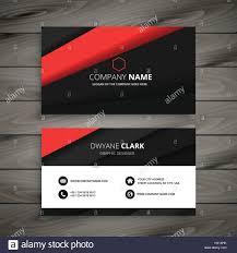 Biz Card Template Minimal Red Black Business Card Template Vector Design