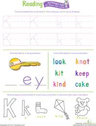 get ready for reading all about the letter k worksheet
