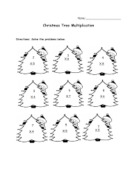 christmas multiplication worksheets learntoride co
