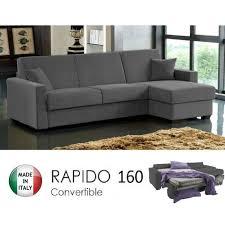 canapé d angle rapido dreamer convertible lit 160 190 14 couchage