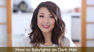 hair color and cut for woman 57 yrs old how to babylights dark hair youtube